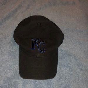 """Black """"KC"""" hat"""
